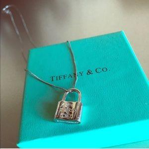 Tiffany's Silver Lock Necklace